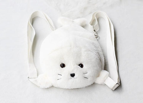 Kawaii Chibi Seal Plush Backpack SP164934 - SpreePicky  - 3
