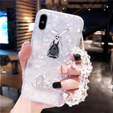 Kawaii Crystal Bear Bunny Iphone Case SP1812496