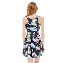 Load image into Gallery viewer, Kawaii Dinosaur Printing Sundress SP1812318