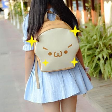 Kawaii Emoji Bread Backpack SP164806
