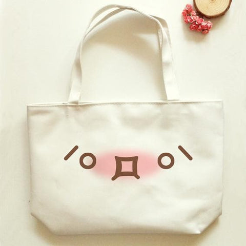 Kawaii Emoji Canvas Shoulder Bag SP166329