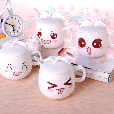 Kawaii Emoji Ceramic Tea Cup SP168310