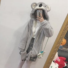 Load image into Gallery viewer, Kawaii Grey Koala Warmming Hoodie Coat SP178644