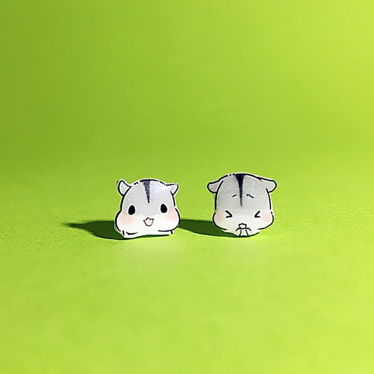 Kawaii Hamster Earrings SP179287