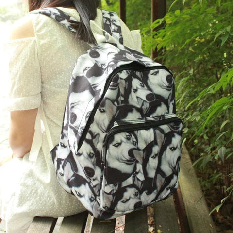 Funny Huskie School Backpack SP166211