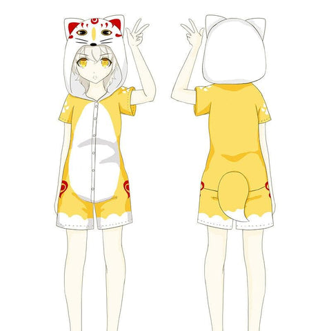 Kawaii Kitsune Romper Pajamas SP1710519