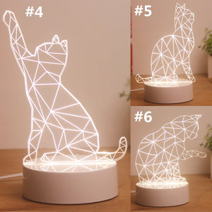 Kawaii Kitty 3D Decoration Lamp SP1812415