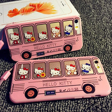 Load image into Gallery viewer, Kawaii Kitty Bus Iphone Phone Case SP165069