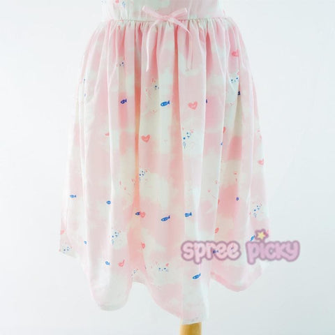 Kawaii Kitty Cat Pattern Spring Dress/Suit/Shirt SP165957