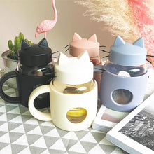 Load image into Gallery viewer, Kawaii Kitty Cat Water Bottle SP1812376