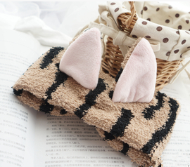 Kawaii Neko Cat Ear Fleece Hair Band For Make Up SP164904 - SpreePicky  - 7