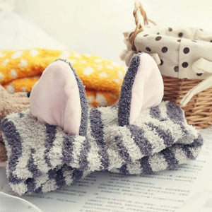 Kawaii Neko Cat Ear Fleece Hair Band For Make Up SP164904 - SpreePicky  - 10