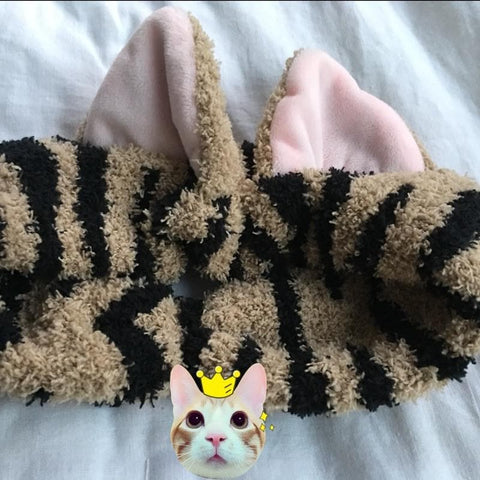 Kawaii Neko Cat Ear Fleece Hair Band For Make Up SP164904 - SpreePicky  - 9