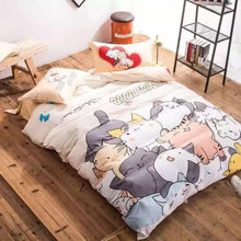 Load image into Gallery viewer, Kawaii Neko Friends Bedding Sheets Set SP179226