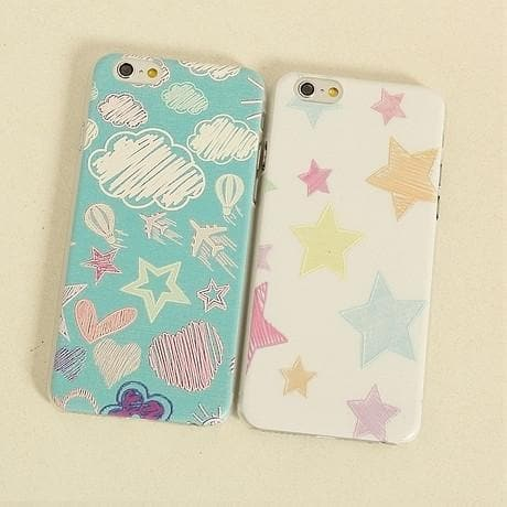 Kawaii Painting Graffiti Star Plastic Phone Case SP166289