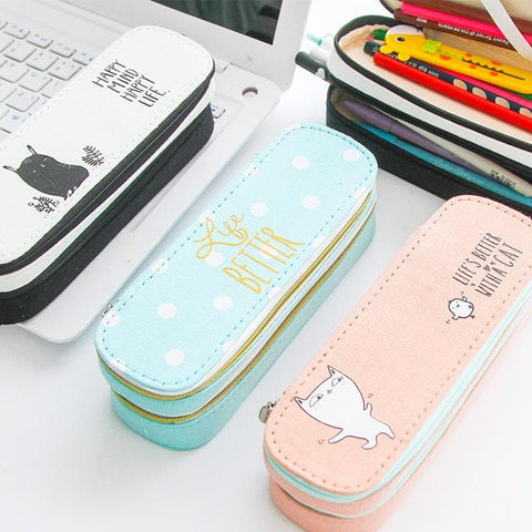Kawaii Pastel Life Zipper Pencil Case SP1710459