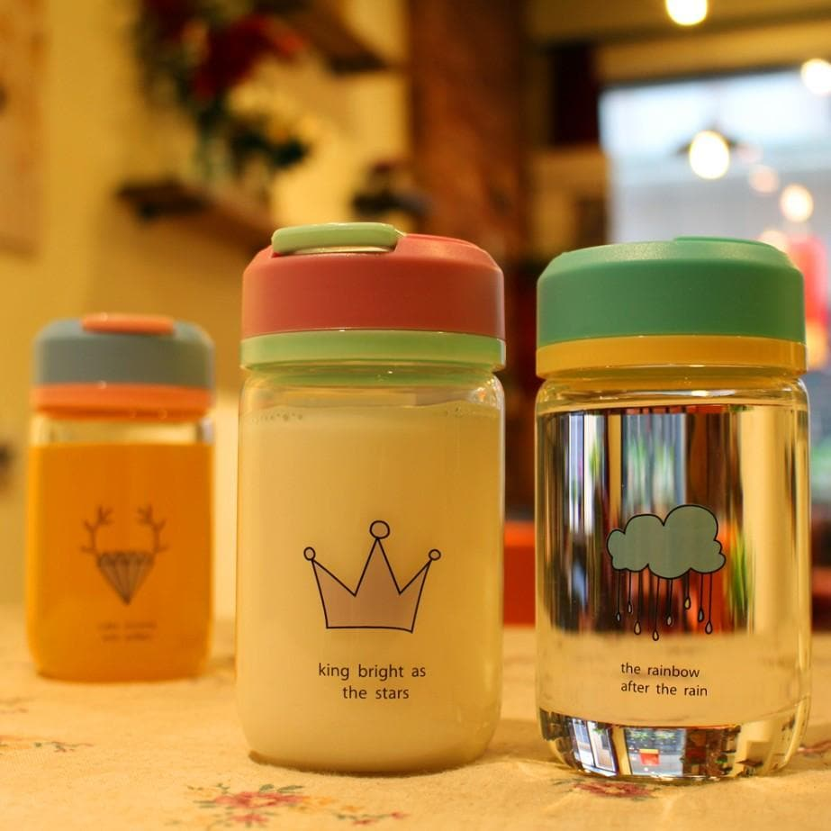 Kawaii Printing Glass Water Bottle SP1710147