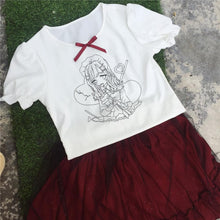 Load image into Gallery viewer, Kawaii Printing T-Shirt/Gauze Skirt SP1710172