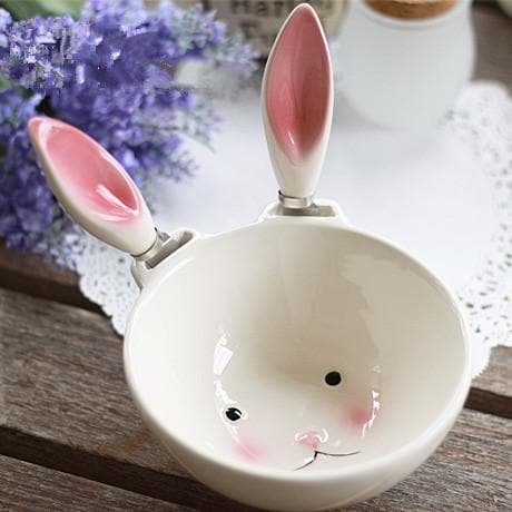 Kawaii Rabbit Ear Ceramic Bowl SP179231