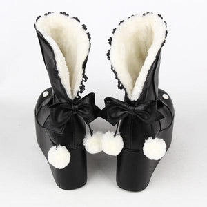 Kawaii Rabbit Ear Lolita Short Boots SP164970 - SpreePicky  - 5