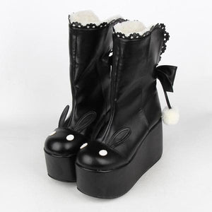 Kawaii Rabbit Ear Lolita Short Boots SP164970 - SpreePicky  - 4