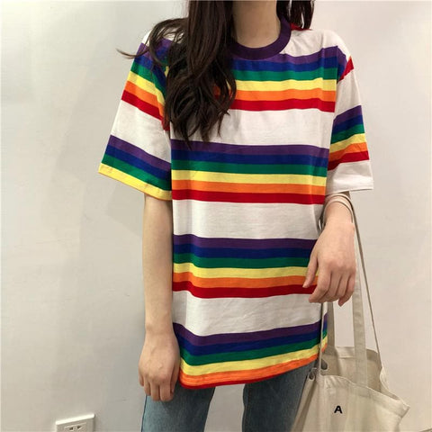Kawaii Rainbow Short Sleeve Shirt SP1812640