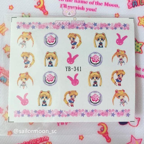 Kawaii Sailor Moon Nail Sticker SP165273