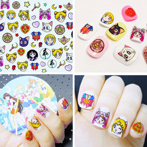 Kawaii Sailor Moon Pattern Nail Sticker SP165274