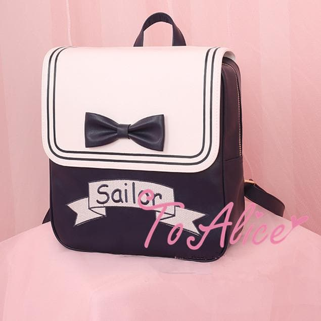 Kawaii Sailor Black Backpack SP178636