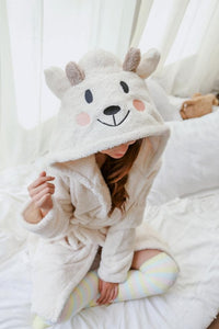 Kawaii Sheep Fleece Hoodie Pajamas Coat SP164912 - SpreePicky  - 4