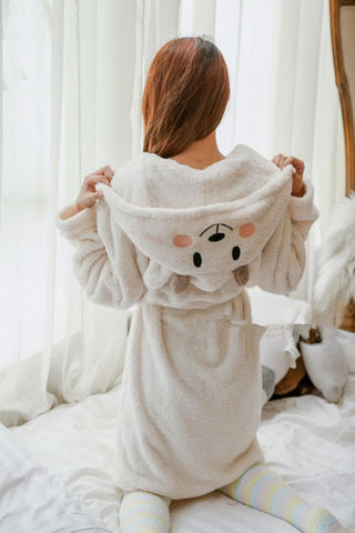 Kawaii Sheep Fleece Hoodie Pajamas Coat SP164912 - SpreePicky  - 6