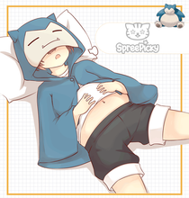 Load image into Gallery viewer, Kawaii Snorlax Hoodie Poncho SP179769