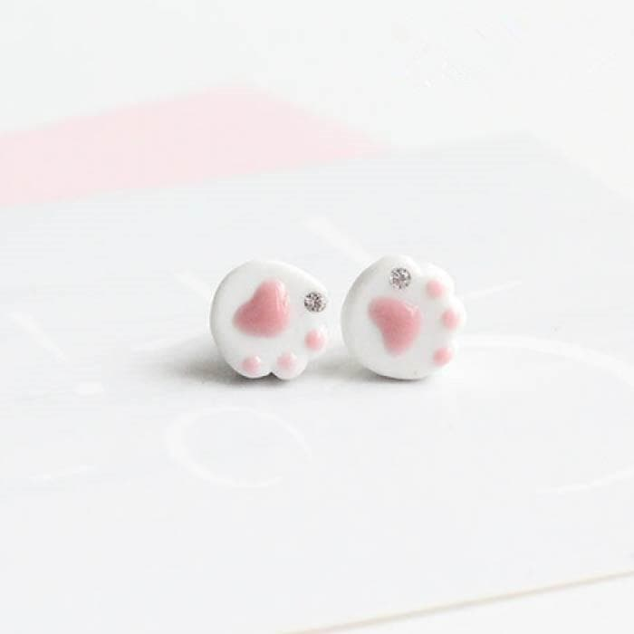 Kawaii Sparkly Pawwed Earring SP179297