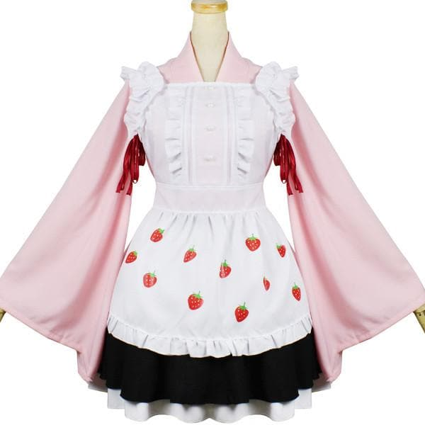 Kawaii Strawberry Maid Cosplay Costume SP1812581