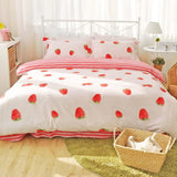 Kawaii Strawberry Bedding Set SP166365
