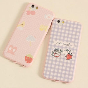 Kawaii Strawberry Pattern Phone Case SP166288
