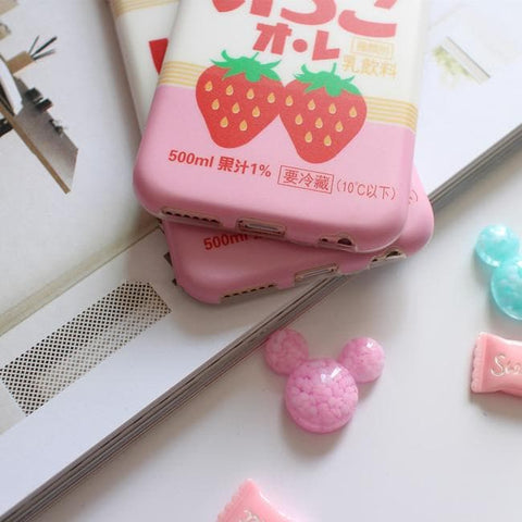 Kawaii Strawberry Phone Case SP166684