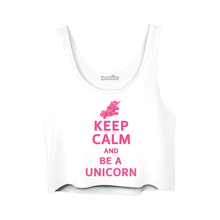 Load image into Gallery viewer, Keep Calm and Be a Unicorn Crop Top SP179794
