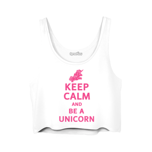 Keep Calm and Be a Unicorn Crop Top SP179794