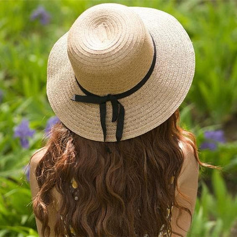 Khaki/Beige Foldable Straw Hat Beach Hat SP152035 - SpreePicky  - 3