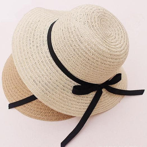 Khaki/Beige Foldable Straw Hat Beach Hat SP152035 - SpreePicky  - 4