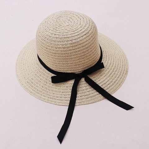 Khaki/Beige Foldable Straw Hat Beach Hat SP152035 - SpreePicky  - 5