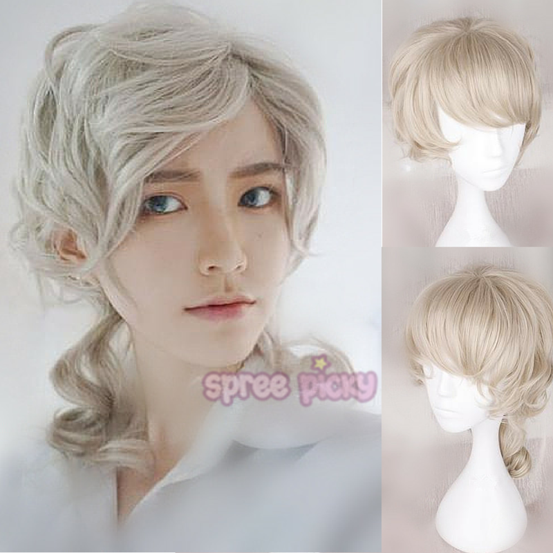 Khaki Short Curly Hair Wig SP166844