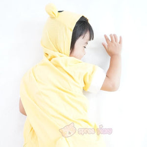 Kids Version Rilakkuma Cute Bear Summer Onesies Kigurumi Jumpersuit Nightwear Pajamas SP152062 - SpreePicky  - 7