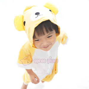 Kids Version Rilakkuma Cute Bear Summer Onesies Kigurumi Jumpersuit Nightwear Pajamas SP152062 - SpreePicky  - 6