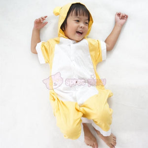 Kids Version Rilakkuma Cute Bear Summer Onesies Kigurumi Jumpersuit Nightwear Pajamas SP152062 - SpreePicky  - 5