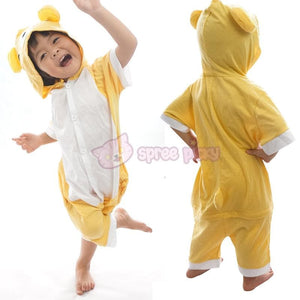 Kids Version Rilakkuma Cute Bear Summer Onesies Kigurumi Jumpersuit Nightwear Pajamas SP152062 - SpreePicky  - 2