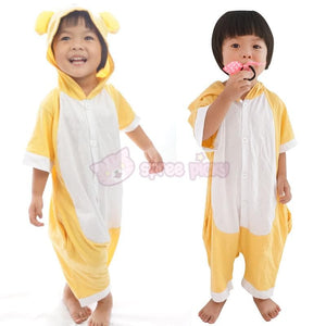 Kids Version Rilakkuma Cute Bear Summer Onesies Kigurumi Jumpersuit Nightwear Pajamas SP152062 - SpreePicky  - 3