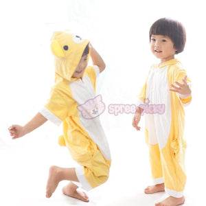 Kids Version Rilakkuma Cute Bear Summer Onesies Kigurumi Jumpersuit Nightwear Pajamas SP152062 - SpreePicky  - 4