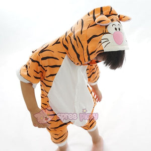 Kids Tiger Animal Summer Onesies Kigurumi Jumpersuit Nightwear Pajamas SP152059 - SpreePicky  - 4